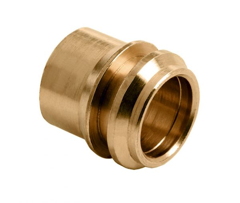 Bonfix  1-delige verloopset 12x10 mm. knel messing