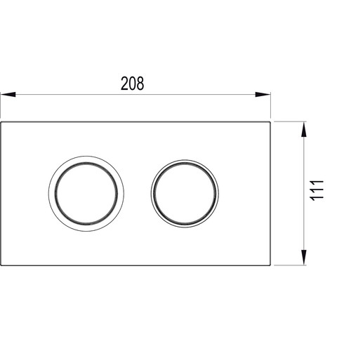 Wisa Juno juno bedieningsplaat dualflush mat chroom