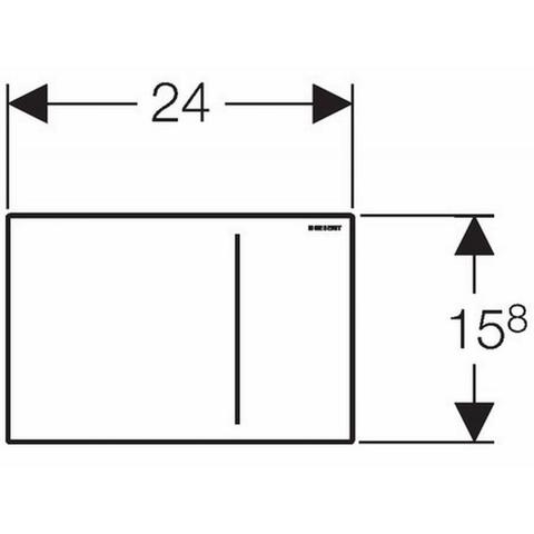 Geberit Sigma 70 bedieningsplaat voor inbouwreservoir 12 cm. wit glas