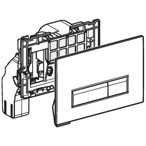 Geberit Sigma 40 bedieningsplaat met duofresh geurafzuigingsset zwart-aluminium