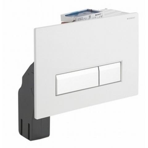 Geberit Sigma 40 bedieningsplaat met duofresh geurafzuigingsset glas wit-aluminium