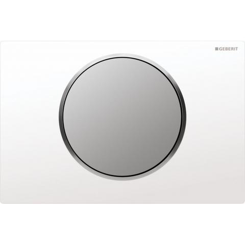 Geberit Sigma 10 bedieningsplaat      kleuren:plaat/ring/knop wit-mat-mat