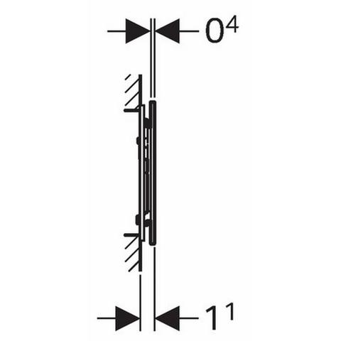 Geberit Sigma 70 bedieningsplaat frontbed.inbouw reservoir 12 cm. rvs