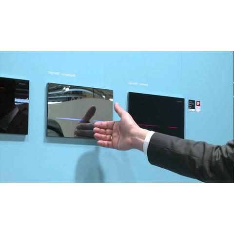 Geberit Sigma 80 bedieningsplaat infrarood 230 v touch free zwart