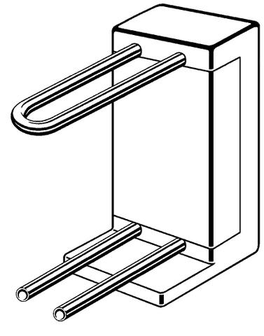 Viega Profipress radiator aansluitblok 15x280 mm.