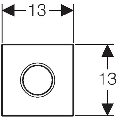 Geberit Sigma 01 urinoir bedieningsplaat met infrarood mat-chroom