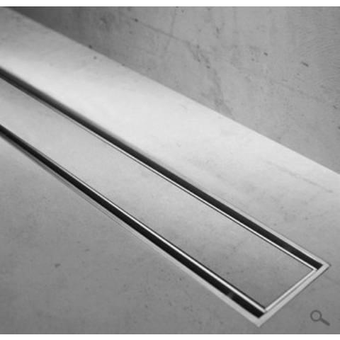 Easydrain Compact Taf Verlaagd douchegoot rooster 60 cm. voor tegeldikte 3-13 mm rvs