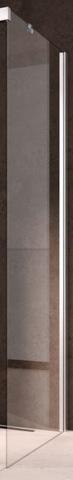 Kermi Nica zijwand links 750x2000 glanszilver-helder