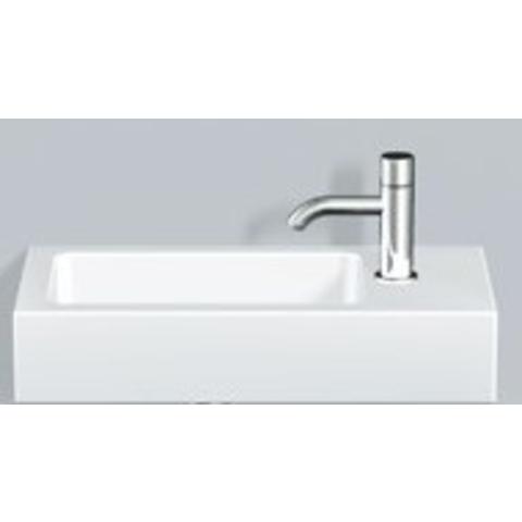 Alape Wt Serie fontein 50x26,8 cm. links met kraangat wit