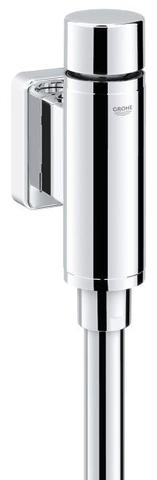 "Grohe Rondo urinoir drukspoel.1/2""vandaalr.m/spoelp./verbinder chroom"