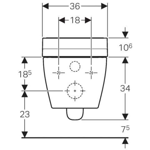 Geberit Aquaclean Tuma wandcloset met douche wc met zwart glas decorplaat wit