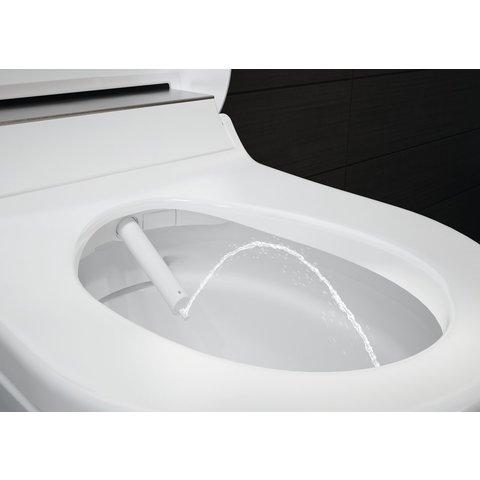 Geberit Aquaclean Tuma comfort zitting met onderdouche met rvs decorplaat wit