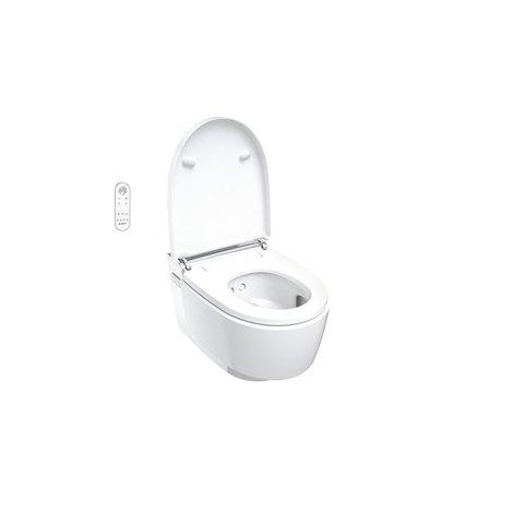 Geberit Aquaclean Mera classic wandcloset met douche wc met chroom decorplaat