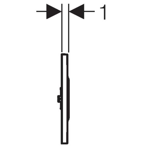 Geberit Sigma 10 urinoir stuursysteem infrarood 230v wit-chroom-wit