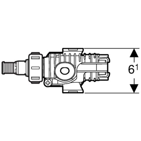 Geberit  type 380 vlotterkraan