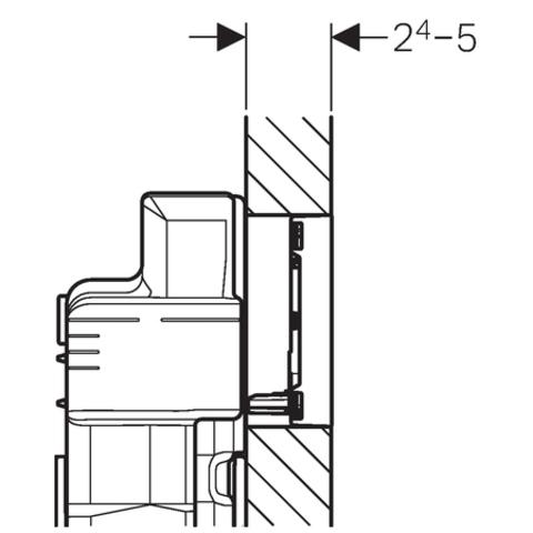 Geberit Sigma 60 bedieningsplaat chroom geborsteld