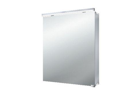 Emco Asis Flat Led led spiegelkast 1 deur m/wastafelverlichting 60cm. spiegel/aluminium