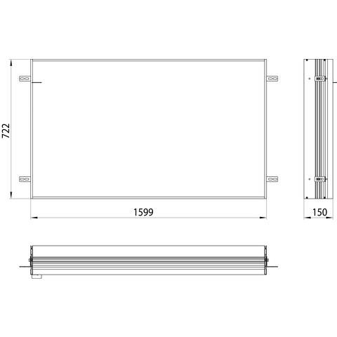 Emco Asis Prime 2 montageraam 160 cm. voor 9497 0xx 38 aluminium