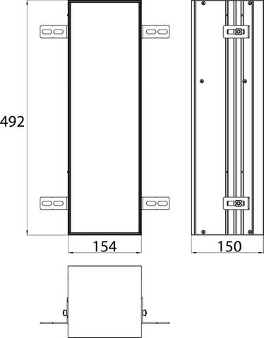 Emco Asis Module closetborstelgarnituurmodule inbouw aluminium