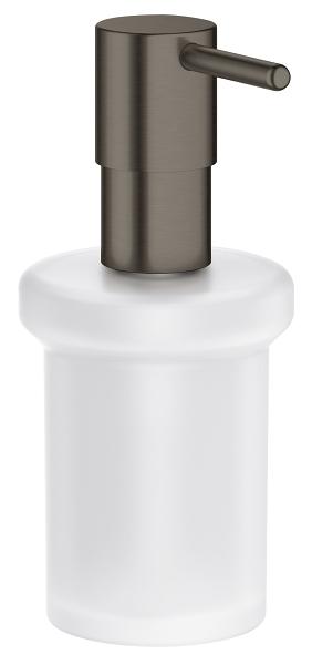 Grohe Essentials zeepdispenser hard graphite geborsteld