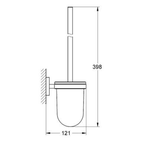 Grohe Essentials toiletborstelhouder hard graphite geborsteld