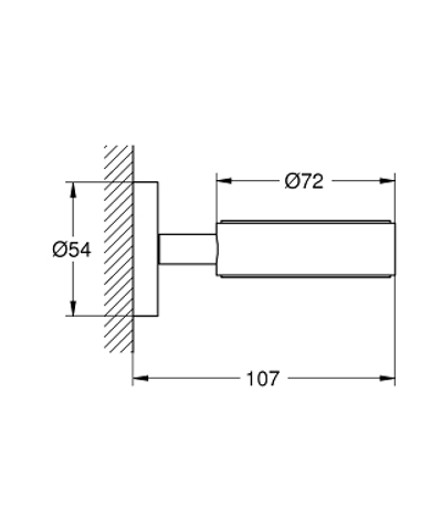 Grohe Essentials houder v/glas/zeep/dispencer hard graphite
