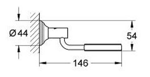 Grohe Essentials Authentic wandhouder voor glas/zeepschaal of dispenser chroom