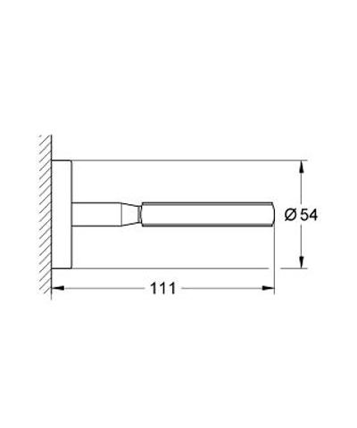 Grohe Bau Cosmopolitan wandhouder voor glas/zeepschaal of dispenser chroom