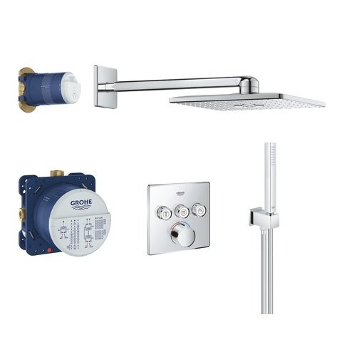 Grohe Smartcontrol perfect showerset compleet - vierkant - chroom