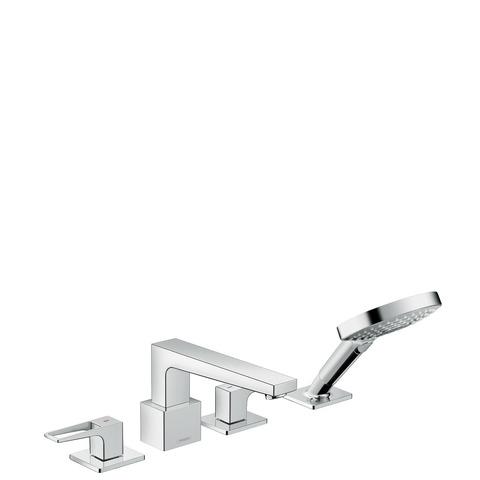 Hansgrohe Metropol 4-gats badrandcombinatie met beugelgreep chroom