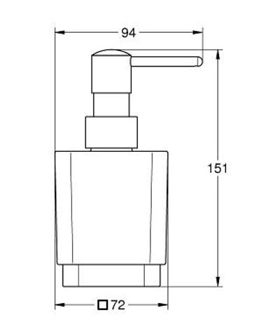Grohe Selection Cube zeepdispenser chroom