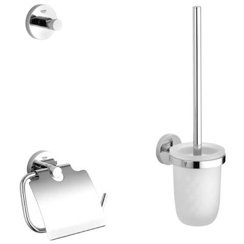 Grohe Essentials accessoireset 3-in-1 (haak-borstelh.-closetrolh.) chroom