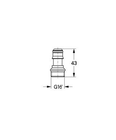 Grohe Rotaflex koppelstuk v/snelkoppeling