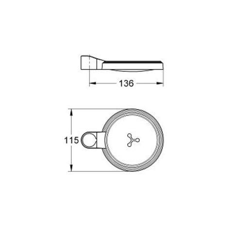 Grohe Relexa -2 zeepschaal