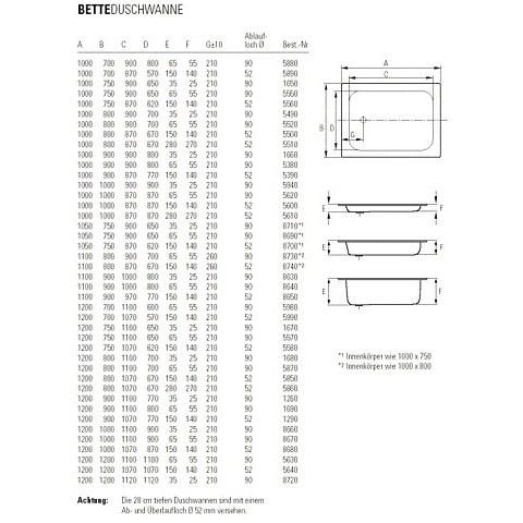 Bette Diep plaatstalen douchebak 90 x 90 x28 cm. wit