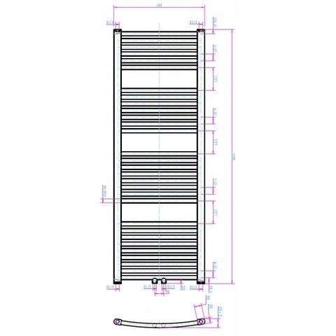 Blinq Altare G handdoekradiator 140 x 50 cm (H X L) wit