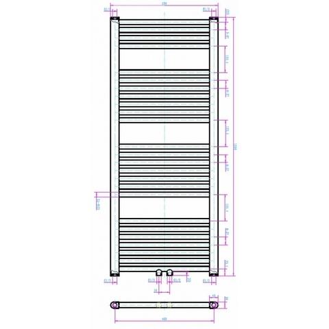Blinq Altare R handdoekradiator 120 x 50 cm (H X L) wit