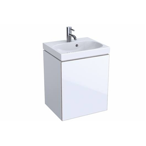 Geberit Acanto fonteinonderkast met glasdeur 44,5cm glans wit glans wit