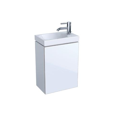 Geberit Acanto fonteinonderkast met glasdeur 39,5cm glans wit glans wit