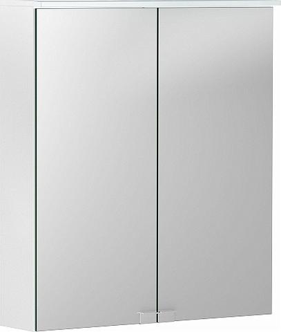 Geberit Option spiegelkast met verlichting 2 deuren 60x67,5cm wit