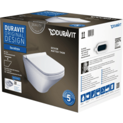 Duravit DuraStyle wandcloset pack rimless met softclose zitting wit