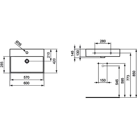Ideal Standard Strada wastafel 60cm