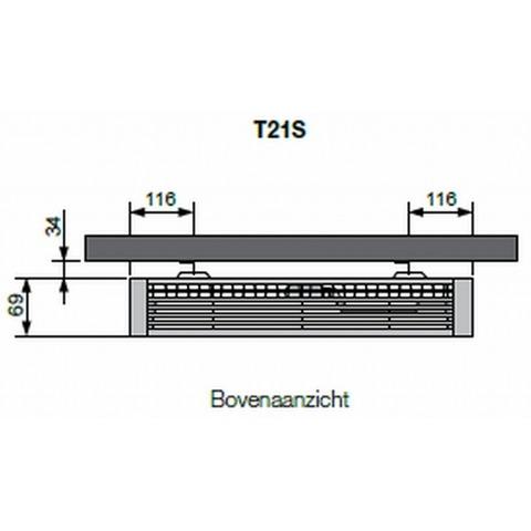 Vasco Flatline T21s paneelradiator type 21 - 180 x 60 cm (L x H)