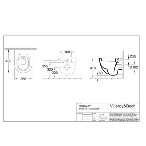 Villeroy & Boch Subway Compact wandcloset ceramicplus wit
