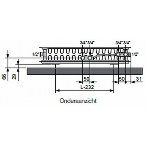 Vasco Flatline T22 paneelradiator type 22 - 180 x 40 cm (L x H)