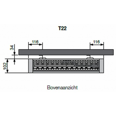 Vasco Flatline T22 paneelradiator type 22 - 240 x 60 cm (L x H)