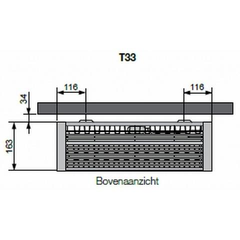Vasco Flatline T33 paneelradiator type 33 - 120 x 50 cm (L x H)