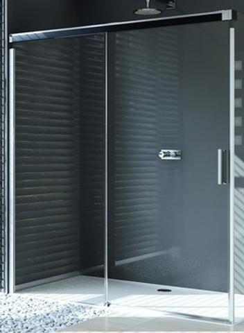 Huppe Design Pure.Huppe Design Pure Schuifdeur Links 140x200 Cm Met Vast Paneel Matzilver Helder Glas