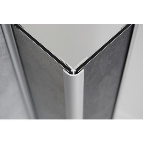 Huppe Easystyle hoekprofiel buiten zilver mat
