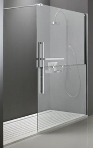 Huppe Duplo walk-in 160x200 cm. rechts chroom-helder glas